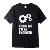 Xin Yi Mens T-shirt100% Coton Hommes T-shirts Faire confiance Je suis un ingénieur T-shirts T-shirts O-Cou T-shirt T-shirt Col O-Colft Homme Tee ShirtsSoccer Jersey