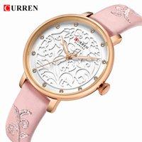 Designer luxo marca relógios curren mulheres es rosa pulso com strass senhoras relógio moda quartzo relogio feminino