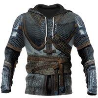 Women's Hoodies & Sweatshirts Viking Armor Tattoo 3D All Over Printed Men Harajuku Fashion Sweatshirt Unisex Casual Zip Hoodie 0059 0MEU
