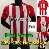 Version des fans Version 2021 Villalibre Bilbao Jersey de football 21 22 Athlétique Williams Muniain Aduriz T-shirt de football 2022 Raul Garcia Camiseta De futbol Men Uniformes