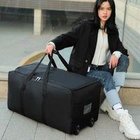 Duffel Bags Unisex Universal Wheel Travel Bag Large Capacity Duffle Durable Oxford Simple Multifunction Handbag Luggage Suitcase XA573FC3VR