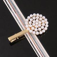 Moda Mujeres Niñas Pearl Metal Play Clip Barrette Stick Hairpin Bobby Joyería Estilismo Moda Herramientas Accesorios para el cabello 472 K2