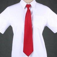 Вырека галстуки роскошь качество дизайнерской галстуки молнии леди профессиональное платье сплошной цвет студент легко вытащить работу девушка ленивый синий черный красный человек