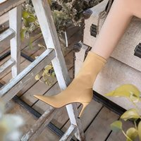 "YSL""Super Heel pumps Women Ankle boots Luxury designer Paris red bottom shoes Bianca Pump Booty Black suede Veau Velours platform s QLq"