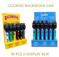 Cookies Backwoods Gesetz Twist Vorheiz VV Batterie 900mAh Unterspannung einstellbar USB-Ladegerät Vape Pen 30pcs mit Anzeigefeld CE4