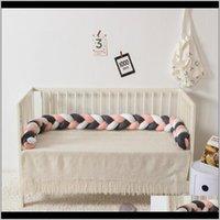 보육원 침구 아기, 키즈 Maternity220cm 베개 룸 장식 아기 침대 범퍼 유아용 침대 보호자 직조 매듭 방울 배달 2021 TCQP