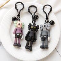 참깨 인형 디자이너 장난감 키 체인 매력 액션 거리 열쇠 고리 액세서리 kaws 자동차 홀더 가방 수치 패션 만화 열쇠 고리 tefwe