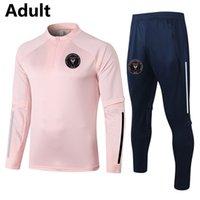 2021 Inter Miami CF Futebol Formação Terno dos homens Tracksuits Adulto Sobrevetimento de Futebol Conjuntos Kits Winter Sports Manga Longa Suéter e Calças