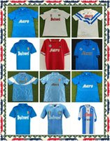1986 1987 1988 1999 Napoli Retro Futbol Formaları 87 88 89 91 93 COPPA Italia Napoli Maradona Vintage Calcio Klasik Vintage Futbol Gömlek
