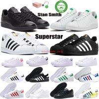 stan smith Superstar Kutu Stan Smith Superstars Womens Günlük Ayakkabılar Tripler Siyah Oreo Lazer Altın Platformu moda Spor Sneakers düz Eğiticilerin 36-44 ile