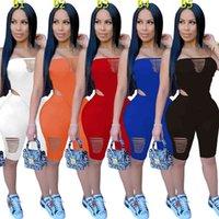Designer Designer Designer Vestiti a due pezzi Abiti da due pezzi Nightclub Sexy Stampato Abiti piegati Ricamato Top Pantaloncini DHL