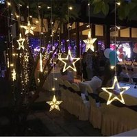 Christmas 2.5M Fairy Star Led Curtain String Lights 100-240V Xmas Garland Strings Light For Home Wedding Party Holiday Dec D5.0
