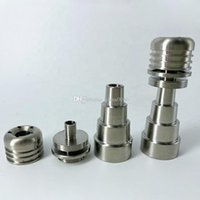 2021 10mm 14mm 19mm 6 IN 1 Portable domeless Smoke electric titanium nails Male Female Smoking nail Ti with Carb Cap For glass bong