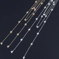 Pendentif Colliers Collier étoile multicouche pour femmes Minimaliste élégant Long Long Tassel Chaîne Boho Bijoux Boho