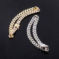 Diseñador de joyas con hielo Out Cadenas Hombres Mujeres Anklets Hip Hop Diamond Tobillo Pulseras Dorado Plata Cuban Link Accesorios de Moda Encantos 42 T2