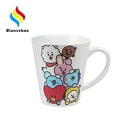 Lovers Ceramic Cup Customized White Porcelain Creative Japanese Breakfast Milk Heat Change Discoloration Cup 11Oz Ceramic Cup Manufacturer B