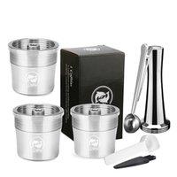 Recafimil إعادة الملء كبسولة كريمة تصفية كوب ل iilly x y آلة القهوة المعادن الفولاذ المقاوم للصدأ القهوة جراب 210426