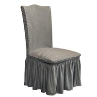 Cadeira cobre casamento maciço capa de jacquard com saia plissada babouldled lycra elástico partido elástico el banquete decoração