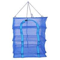 Aufbewahrungstaschen WonderLife 35 Dreischichtige Klapptrocknungskäfig-Quadrat verdicktes Fischnetz