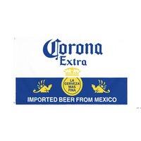 Fábrica directa al por mayor doble costura de doble costura de 3x5fts 90 * 150cm Bandera de la bandera de la cerveza de Corona para la decoración DHD5680