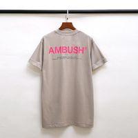 2021 Hip Hop Ambush T-Shirt Männer Frauen 1: 1 Hochwertige casual casual baumwolle orange reflektierende straße top teen