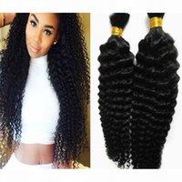 땋은 자연 색깔 벌크 인간의 머리카락을 땋는 땋은 머리카락을 땋기위한 웨이크 인간의 머리카락 벌크는 곱슬 머리 땋은 인간의 머리카락 2pcs