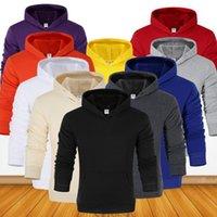 Herren Hoodies Sweatshirts EiigsSG Mode Marke 2021 Frühling Herbst Männlich Casual Solid Color Sweatshirt Tops