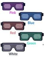 LED حزب نظارات 8 طرق فلاش سريع USB تهمة النيون نظارات ديناميكية متوهجة ضوء مهرجان حزب نظارات حزب الديكور dha7087