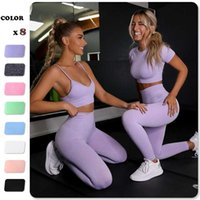Seamless Women Yoga Set Workout Shirts Sport Pants Bra Gym Suits Fitness Shorts Crop Top High Waist Running Leggings Sports Sets 211023