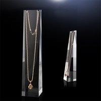 Collier acrylique Stand Elegance Bijoux Affichages pour Shop Shelf Etagère Salon Colliers Organisateur 616 Z2