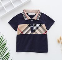 T-shirt de manga curta das meninas pólo infantil meio meio e pequeno algodão meninos 2-7 anos