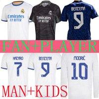 레알 마드리드 축구 유저 멀리 21 22 벤제 위험 특별 골키퍼 긴 소매 Ramos ISCO 2021 2022 Camiseta 축구 셔츠 남자 키트 키트 플레이어 버전