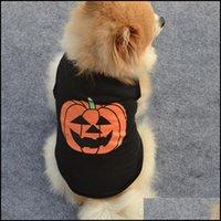 Apparel Supplies Home & Gardenhalloween Clothes Festival Carnival Black Funny Pet Dog Hoodies Halloween Pumpkin Puppy Dress Costume T-Shirt