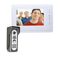 Inch TFT Wired Video Door Phone Intercom Color Doorphone System White Monitor Outdoor Home Doorbell Intercoms Phones