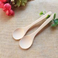 Cucharas de sopa de madera Comparación Mini Café Cucharada de madera Utensilio Té Helado Cuchara Wholesale WY1316