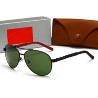 Óculos de sol de alta qualidade Designer de luxo rodada óculos piloto moda espelho marcas sunnies homens mulheres vintage sunglass com caixa e casos