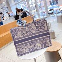 실크 sarf 자수 호랑이 패턴 패션 럭셔리 totes 대용량 큰 브랜드 쇼핑백 핸드백 수제 양면 꽃 독점 디자인 # 13