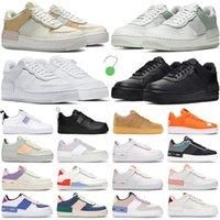 2021 air force 1 af1 one shoes shadow hombres mujeres zapatos para correr nike zapatillas de deporte de moda triple white Spruce Pale Ivory hombre zapatillas de deporte al libre
