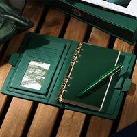 Negócios Encontro de Alta Grade Caderno Espiral 6 Holes Diário Planejador Agenda 2021 Engrossar Filofax Bonito A5 A6 Pessoa Presente Notepads