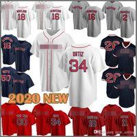 Custom Baseball Jersey Red 50 Mookie Betts Sox 9 Ted Williams 16 Andrew Benintendi 34 David Ortiz 28 JD Martinez Wade Boggs Chris Venda Mens
