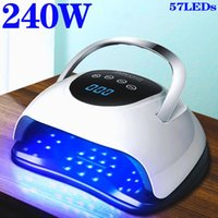 Nail Dryers 240W 57LEDs UV LED Dryer Lamp For Acrylic Gel With Low Heat Mode Profession Art Salon Manicure Machine