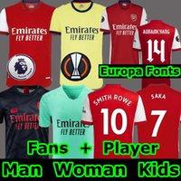 Camisa de futebol Gunners 20 21 versão do jogador de fãs PEPE SAKA THOMAS WILLIAN NICOLAS CEBALLOS TIERNEY 2020 masculino + kit infantil Uniformes humana quarto 4º