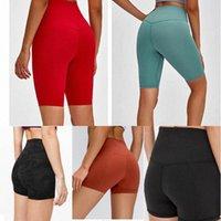 Kadınlar Lulu Tayt Yoga Pantolon Tasarımcı Bayan Egzersiz Spor Giyim Lu 32 68 Düz Renk Spor Elastik Fitness Lady Genel Hizalama Tayt kısa 01 L8OC #