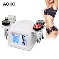 AOKO 2021 New Arrival 6 In1 40k ultradźwiękowy Cavitation Próżniowa maszyna odchudzająca RF Urządzenie urody Cold Hot Hammer Dokręcić narzędzie