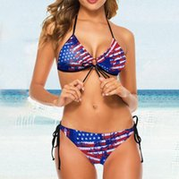 Sexy Bikini American Flag Star Swimsuit 4th Of July Independence Day Swimwear 2 Piece Female Swimming Suit For Women Set Women's