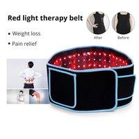 Taşınabilir LED Zayıflama Bel Kemerleri Kırmızı Işık Kızılötesi Terapi Kemer Ağrı kesici LLLT Lipoliz Vücut Şekillendirme Şekillendirme Şekillendirme 660nm 850nm Lipo Lazer