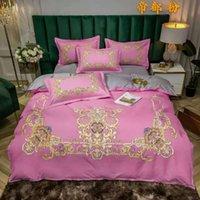 Bettwäsche-Sets Europäischen Luxus-Adel-Sets, 220x240 Bettbezug mit Kissenbezug, 210x210 Quilt, 200x200 Blume