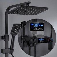 Bathroom Shower Sets Cold Set Smart Digital Thermostatic System Bathtub SPA Rainfall Bath Tap Wall Mount Full Kit Faucets