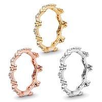NEW Flower Crown RING Original Box for Pandora 925 Sterling Silver Women men Wedding Gift CZ Diamond Rings Sets 45 O2