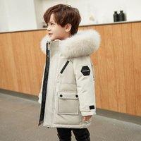 아이들이 코트 키즈 겨울 outwear 소녀 의류 소년 의류 어린이 재킷 긴 두꺼운 후드 자켓 따뜻한 코트 B8410
